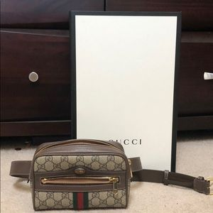 AUTHENTIC Gucci Ophidia GG Supreme Small Belt Bag
